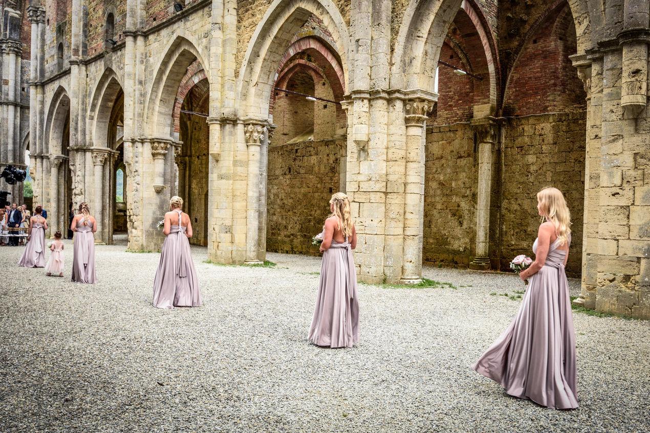 Bridesmaid Aisle Walk