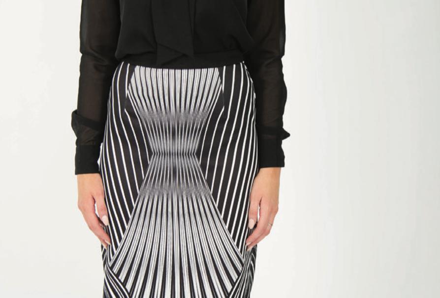 Ice Express Mono Stripe Skirt