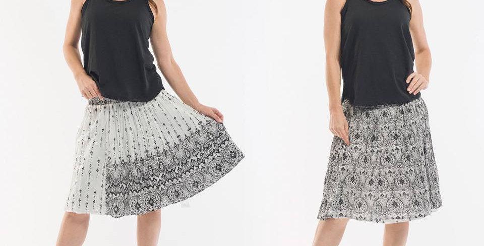 Orientique Miro Reversible Short Skirt