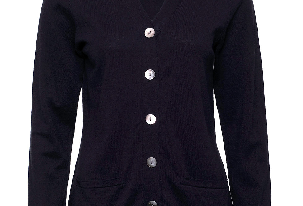 Yarra Trail Essential Cardigan - Navy