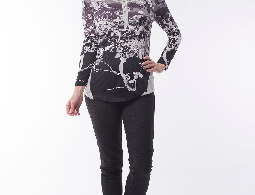 Orientique Takeshi Print Top
