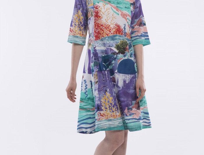 Orientique Santorini Panelled Dress