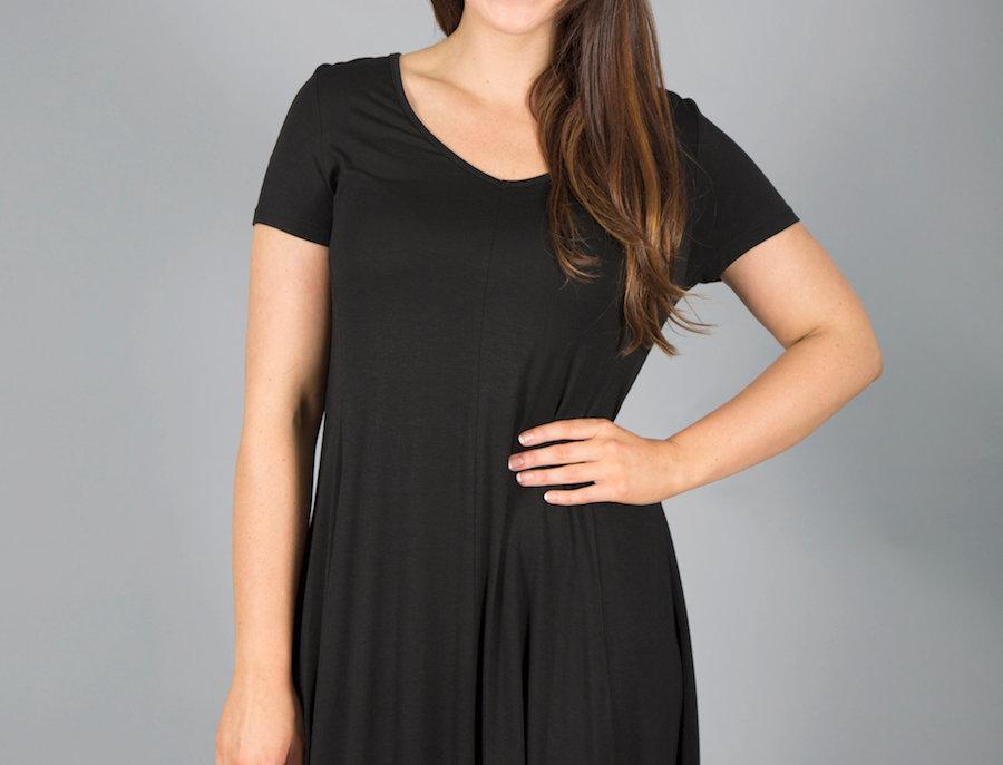 Black Plum Swing Dress
