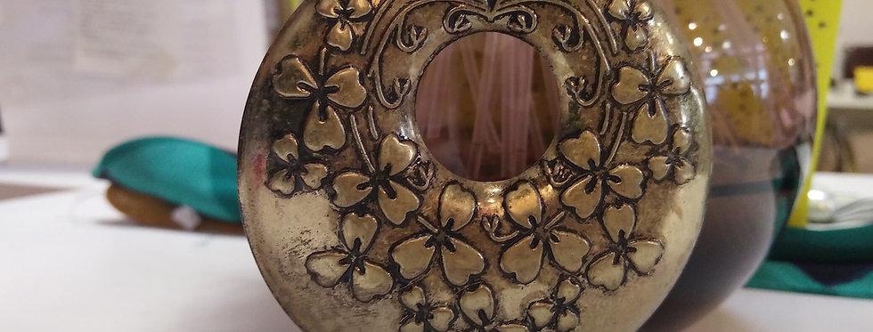 Round Antique Gold Dangler