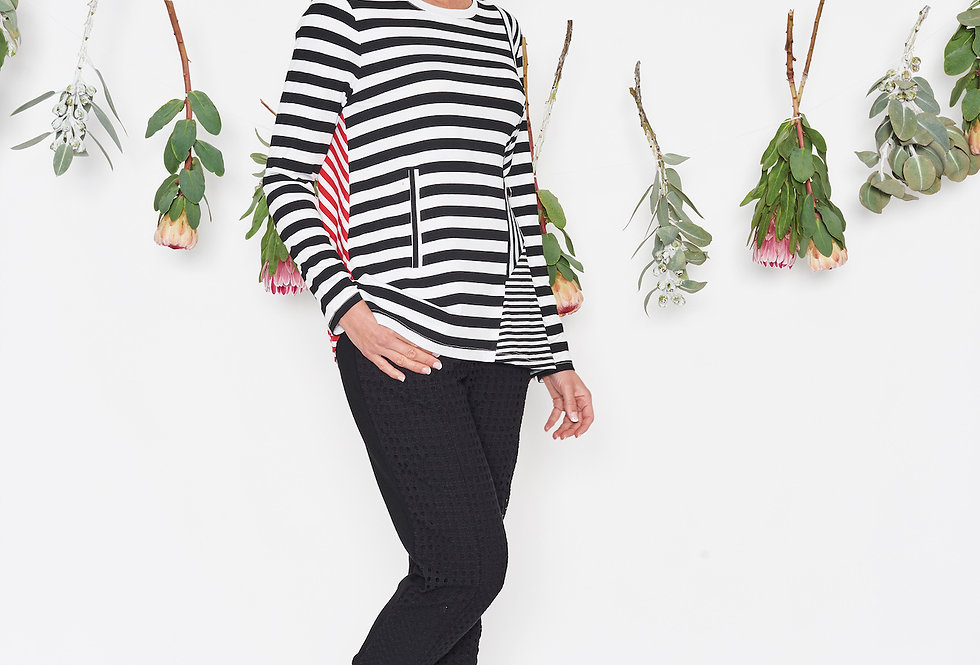 Threadz Spliced Stripe Tee
