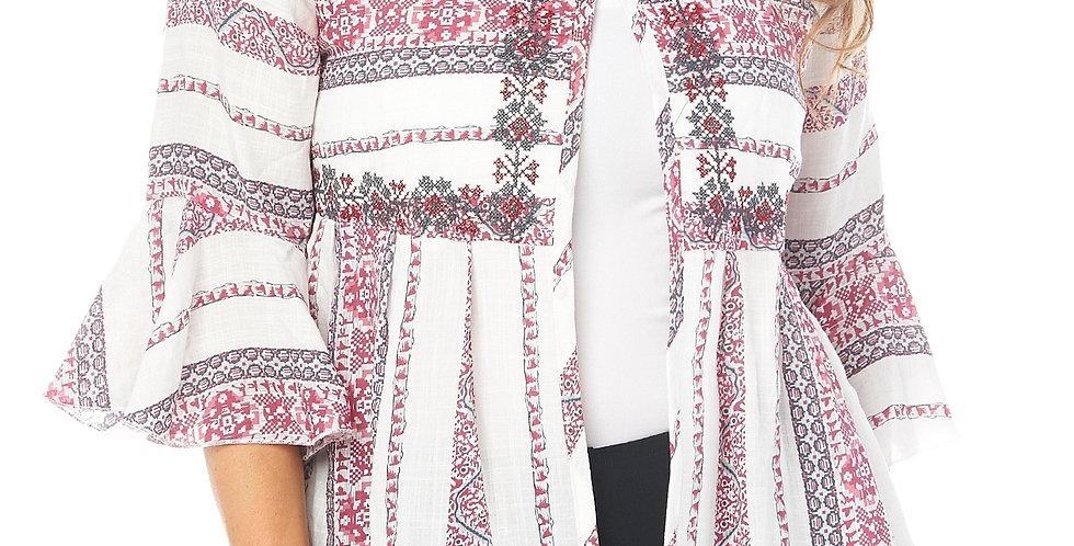 Cafe Latte Aztec Embroidered Jacket