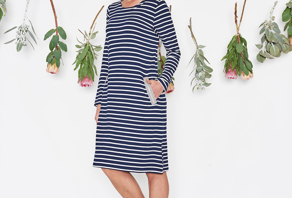 Threadz Zip Trim Dress
