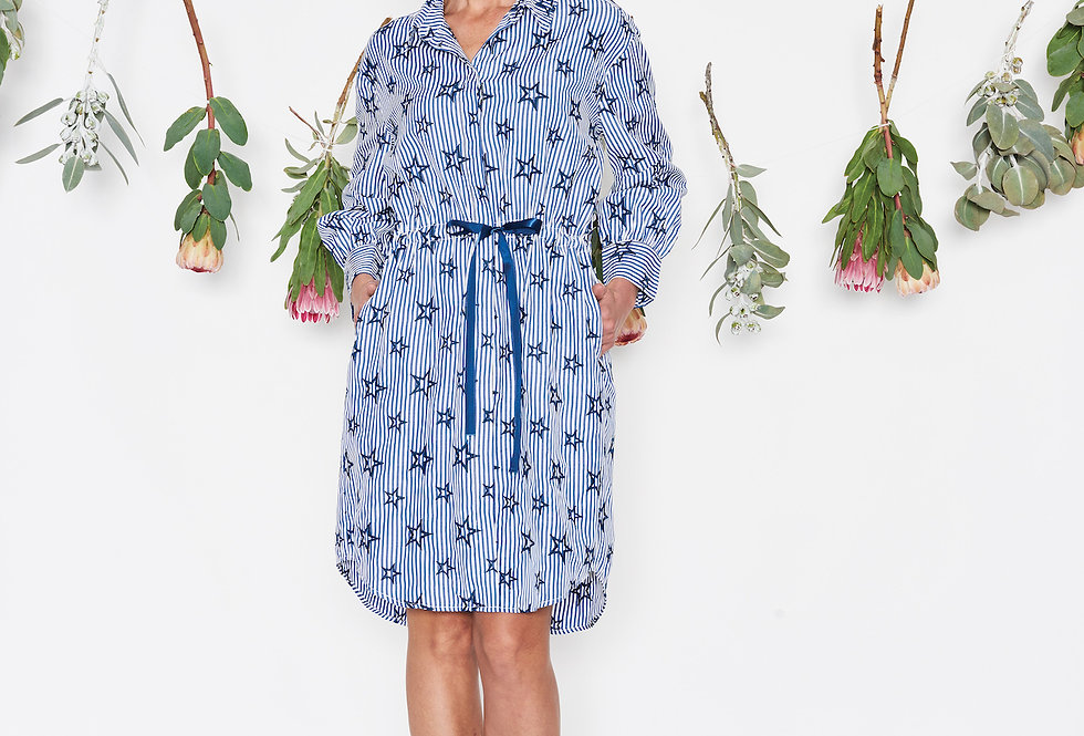 Threadz Star Print Shirt Dress