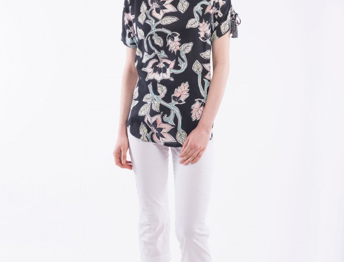 Orientique Akiko Print Top
