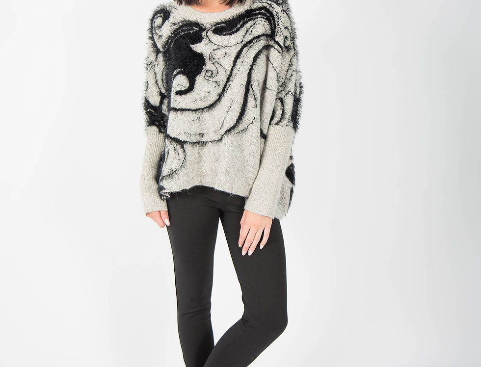 Ice Express Fluffy Textured Jumper