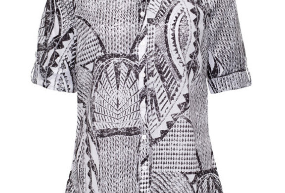 Yarra Trail 3/4 Tab Sleeve Printed Shirt