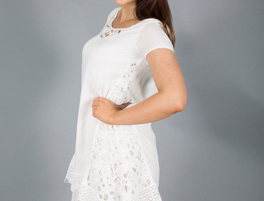 Black Plum Lace Detail Dress