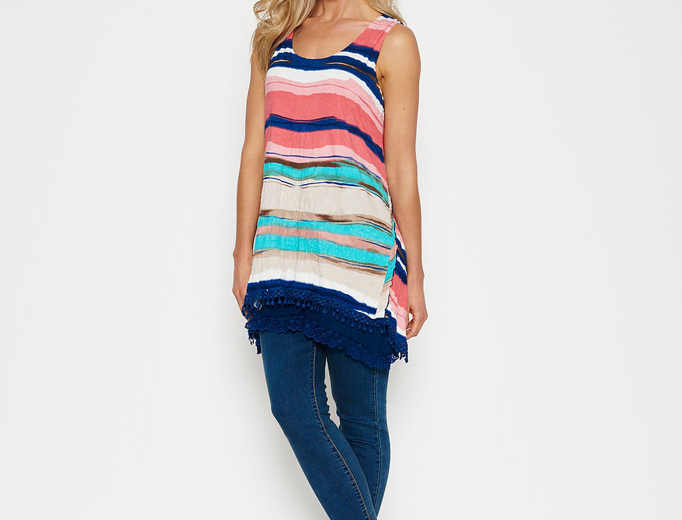 Thread Stripe Tunic-BahamaCollection