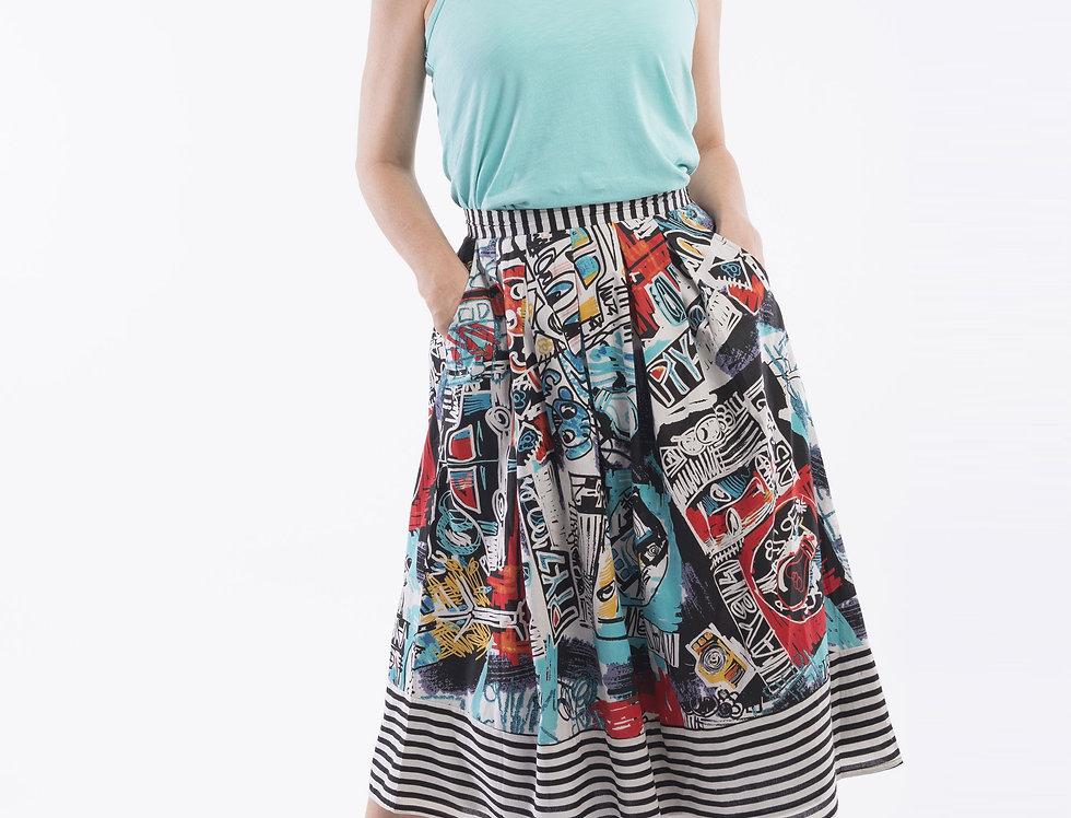 Orientique Portobello Pleated Skirt