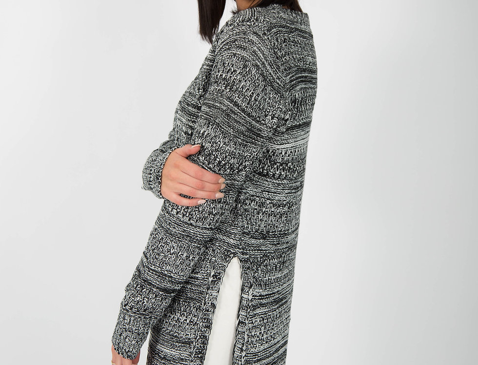 Ice Express Hi Low Knit Jumper
