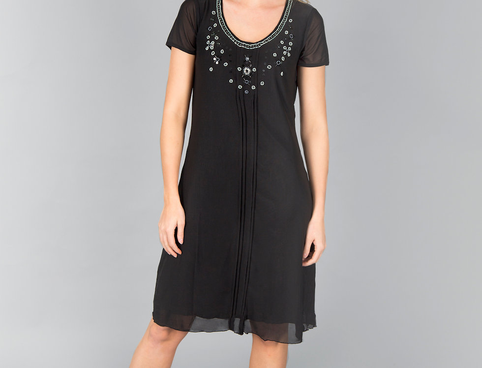 Ice Express Embroidery Mesh Dress