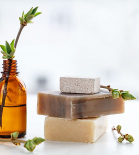 natural bars of soap for the products page of laurens fave
