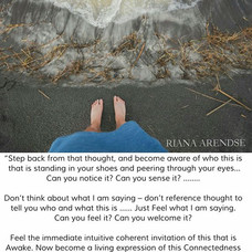 """""""Step back from that thought, and become"""