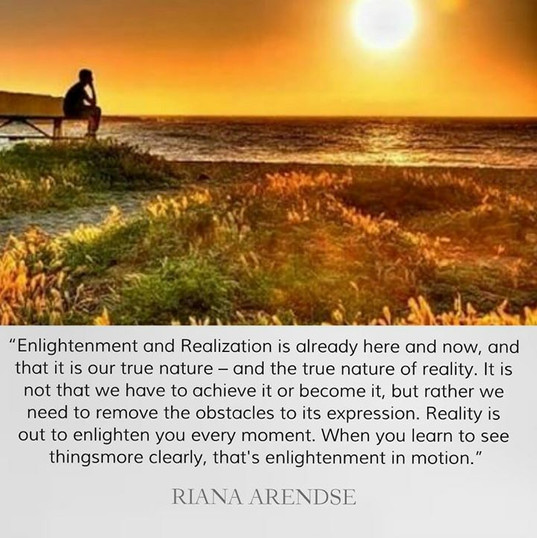 """""""Enlightenment and Realization is alread"""