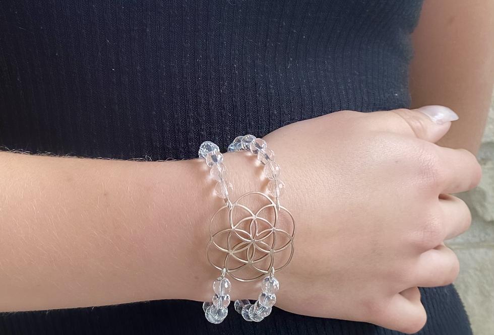Bracelet manchette Cristal de roche