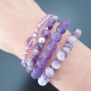 Bracelets améthsyte