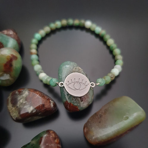 Bracelet Oeil et Chrysoprase