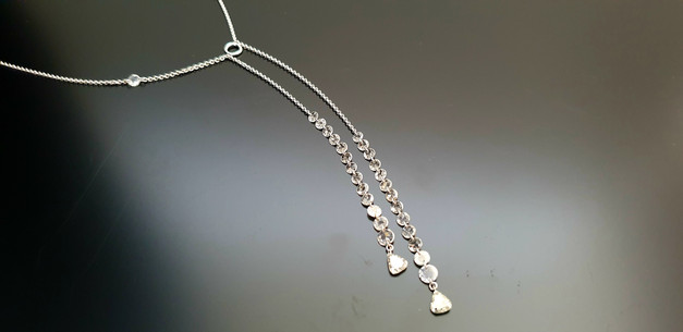 Collier diamants sur or blanc