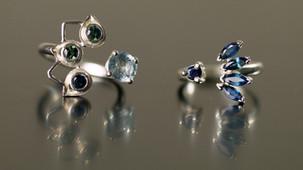 Bagues pierres naturelles et argent. Atelier Sôma. Outils de lithothérapie, bijoux made in france fabriqués à la main.