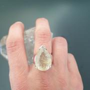 bague en quartz rutile