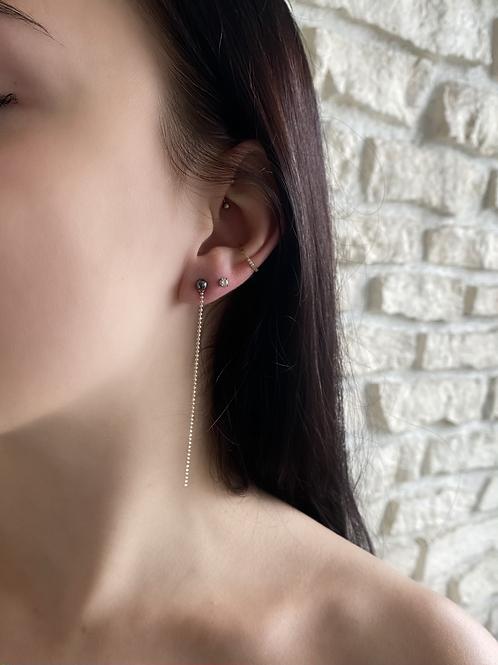 """Boucles d'oreilles """"Puces"""" Petit modèle Hématite"""