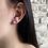 """Thumbnail: Boucles d'oreilles """"Puces"""" Grand modèle Aigue-Marine"""