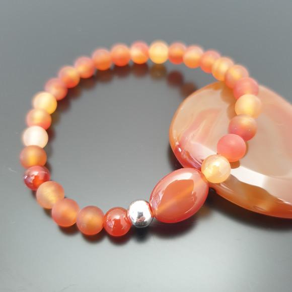 bracelet cornaline