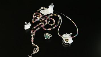 Collier et bague pierres naturells et argent. Atelier Sôma. Outils de lithothérapie, bijoux made in france fabriqués à la main.