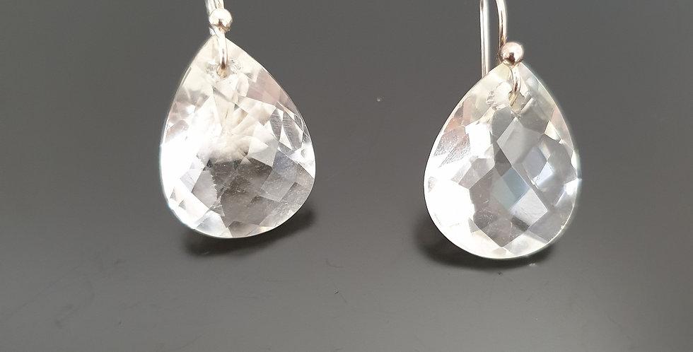 Boucles d'oreilles Cristal de roche