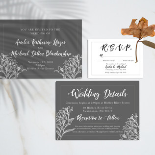 Amelia & Michael Wedding Invite