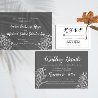 Amelia & Michael Wedding Invite