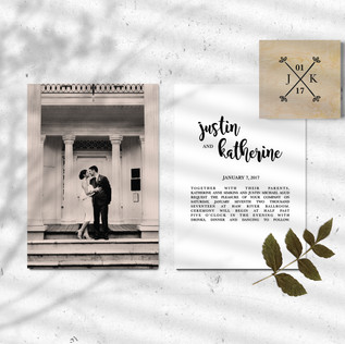 Justin & Katherine Wedding Invites