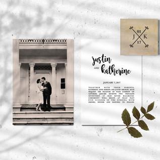Justin & Katherine Wedding Invites