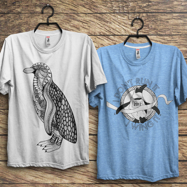 Tuxedo Trot Shirt Designs