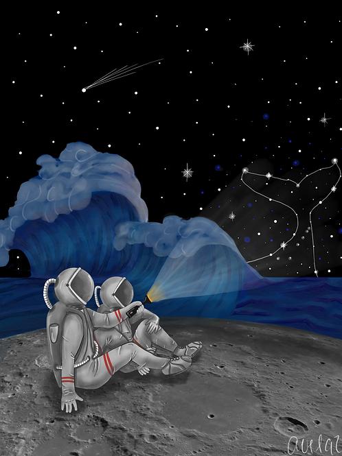A la orilla de la luna juntos