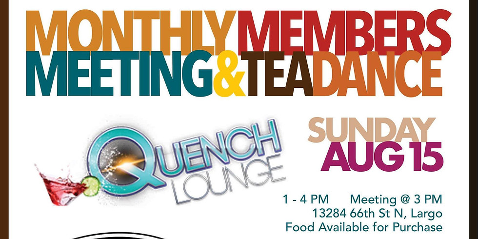 Monthly Members Meeting & Tea Dance