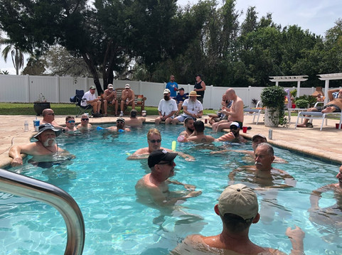 Members only private pool party