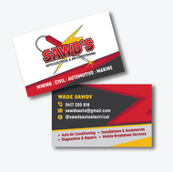 Business Card Design for Sawd's Auto Electrical