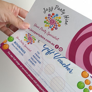 Gift Voucher Design and Printing by Lilaco Designs