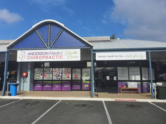Shop Signage Design for Anderson Family Chiropractic Mackay