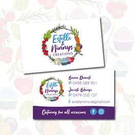 Hand drawn Logo and Business Cards for Estelle and Ninnys Creations