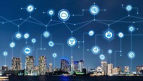 Smart city and telecommunication concept