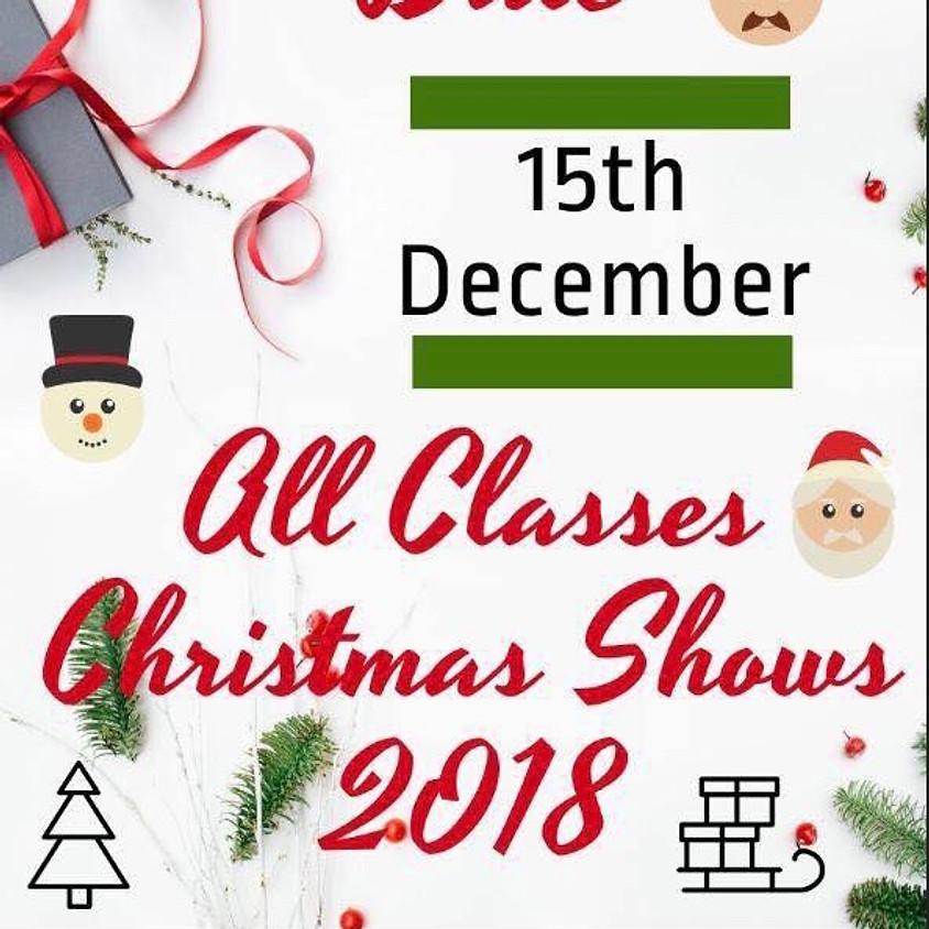 CHRISTMAS SHOW 9:30am (Sat AM/Mon/Wed/Fri 4-5 classes)