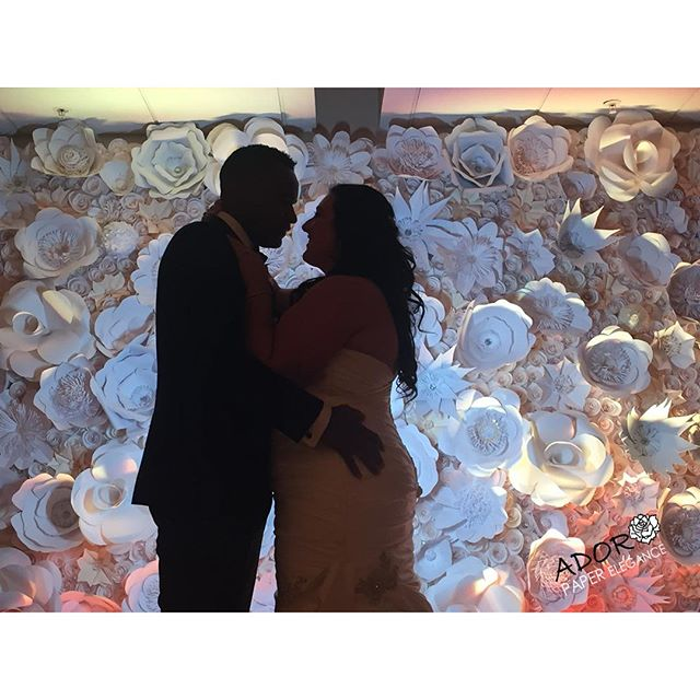 Simply breath taking _cascadeweddings _alexa_landino #floralbackdrop #paperflowers #adoropaper #ador