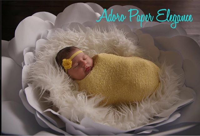 In honor of today's baby shower set up we want to show this beautiful baby girl in our Newborn flowe